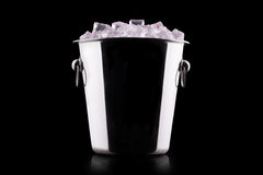 Champagne Metal ice bucket Royalty Free Stock Image