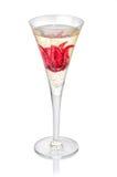 Champagne mit Hibiscusblume Lizenzfreie Stockfotos