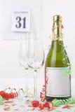 Champagne na véspera de ano novo Fotografia de Stock