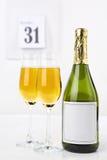 Champagne na véspera de ano novo Imagens de Stock Royalty Free