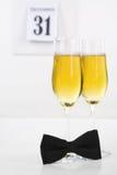 Champagne na véspera de ano novo Imagem de Stock