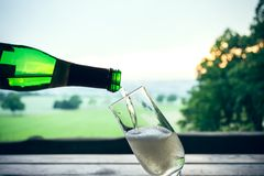 Champagne in nature Stock Image
