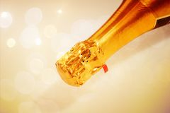 Champagne neck isolated Stock Photo