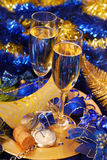 Champagne for New Year Stock Photos