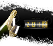 Champagne. New Year Celebration. Celebration. New Year's Eve concept with counter 2012 Stock Photography
