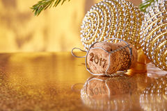 Champagne.  New year and Christmas. Stock Images