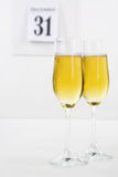 Champagne on new year eve Royalty Free Stock Image