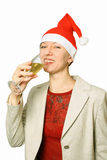 Champagne. A New Year's holiday. Royalty Free Stock Photography