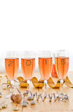 Champagne for New Year's royalty free stock images