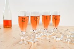 Champagne for New Year's royalty free stock photography