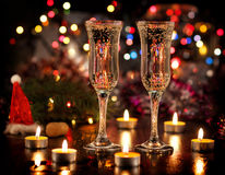 Champagne new year Stock Photo