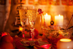 Champagne on New Year Stock Images