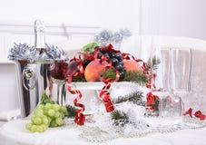 Champagne Nieuwe year& x27; s vooravond viering Stock Afbeeldingen