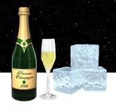 Champagne at night Royalty Free Stock Photography