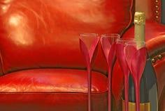 Champagne-noch Leben Stockfotografie