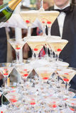 Champagne nos vidros Imagem de Stock Royalty Free