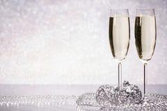 Champagne nytt år för jul Arkivfoto