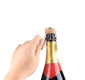 Champagne opening. Stock Photo