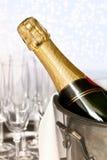 Champagne operata Immagini Stock