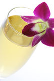 Champagne with orchid Stock Images