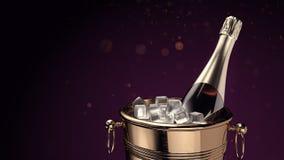 Champagne på ishinken arkivfoton