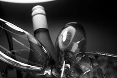 Champagne på is med exponeringsglas Royaltyfri Foto
