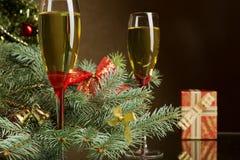 Champagne para o Natal Imagem de Stock