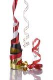 Champagne para a véspera de anos novos Fotografia de Stock Royalty Free