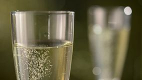 Champagne for parties stock video