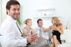 Champagne party Stock Images