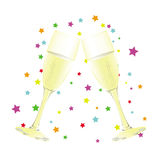Champagne party background Stock Image
