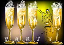Champagne party twenties Royalty Free Stock Photography