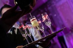 Champagne at the party Stock Photos