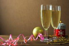 Champagne pelo ano novo Fotos de Stock Royalty Free