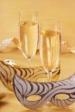 Champagne pendant l'année neuve Photo libre de droits