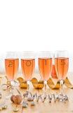 Champagne per il nuovo anno Immagini Stock Libere da Diritti