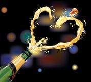 Champagne per la celebrazione Fotografia Stock Libera da Diritti