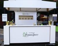 Champagne perrier-Jouet op het Nationale Tenniscentrum tijdens US Open 2015 wordt voorgesteld die Stock Afbeelding