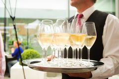 Champagne on a plate Stock Image