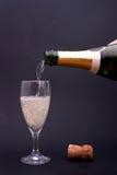 Champagne pleuvante à torrents Photo stock