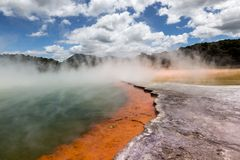 Champagne Pool In Waiotapu Thermal Reserve, Rotorua, New Zealand Royalty Free Stock Photo