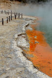 Champagne pool. In new zealand royalty free stock image