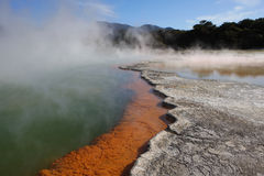 Champagne Pool, New Zealand Royalty Free Stock Photo