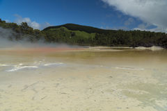 Champagne pool. New Zealand Stock Photo