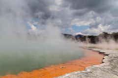 Champagne Pool in Thermal Wonderland Wai-O-Tapu Stock Photography