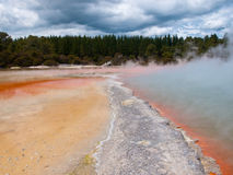 Champagne pool under cloudy sky Royalty Free Stock Images