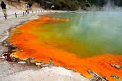 Champagne Pool, Wai-O-Tapu Royalty Free Stock Image
