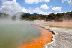 The Champagne Pool, Wai-O-Tapu Stock Images