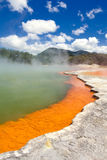 Champagne Pool in Wai-O-Tapu Geothermal Wonderland. New Zealand Stock Photography