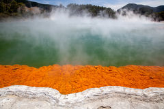 Champagne pool. In Wai-O-Tapu Geothermal Wonderland, Rotorua, New Zealand Royalty Free Stock Photos